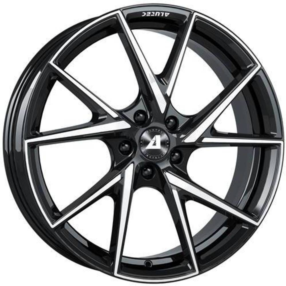 Large 8.5x18 Alutec ADX.01 Diamond Black Polished