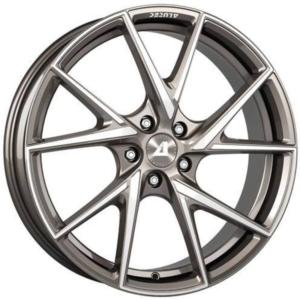 Large 8.5x18 Alutec ADX.01 Metallic Platinum Polished
