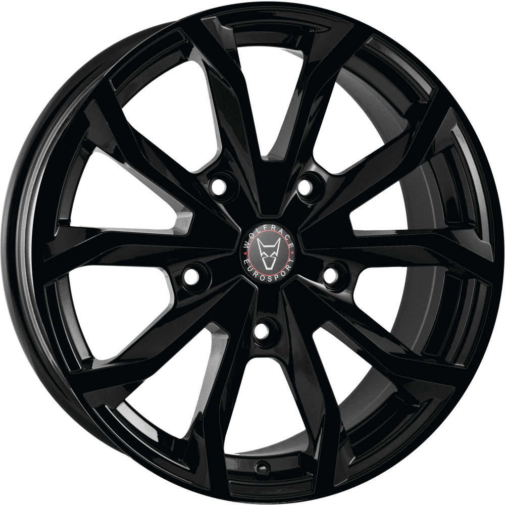 Large 8x18 Wolfrace Eurosport Assassin TRS Gloss Black