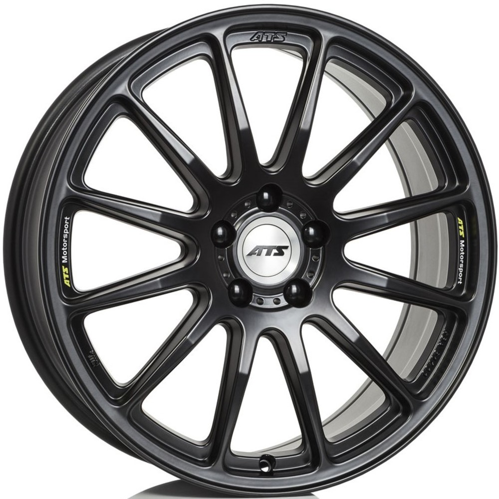 Large 8.5x20 ATS Grid Racing Black Polished Center