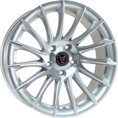 Wolfrace Eurosport Aero Silver Polished Alloy Wheels Image