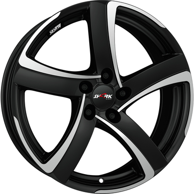 6x15 Alutec Shark Racing Black Polished