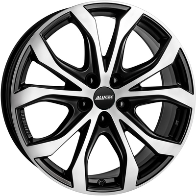 8x18 Alutec W10X Satin Black Polished Alloy Wheels Image