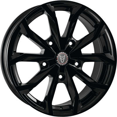 Wolfrace Eurosport Assassin TRS Gloss Black Alloy Wheels Image