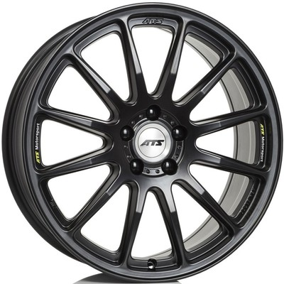 8.5x20 ATS Grid Racing Black Polished Center