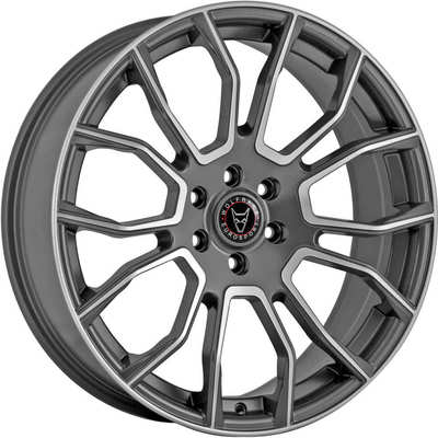 Wolfrace Eurosport Evoke X Satin Titanium Polished Face Alloy Wheels Image