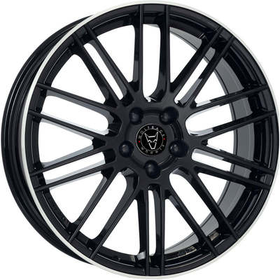 8.5x20 Wolfrace Eurosport Kibo Gloss Black Polished