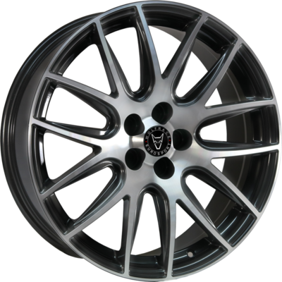 Wolfrace Eurosport Munich Gunmetal Polished Alloy Wheels Image