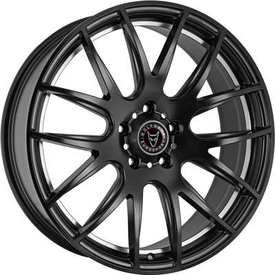 Wolfrace Eurosport Munich Satin Black Polished Undercut Alloy Wheels Image