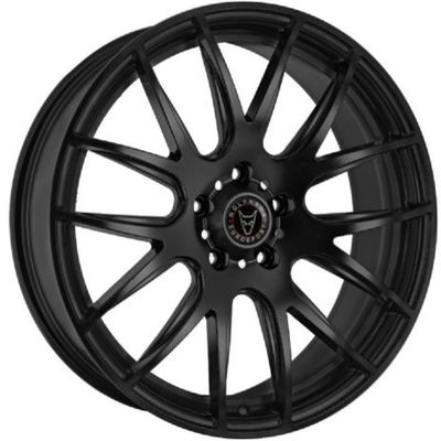 Large 8.5x18 Wolfrace Eurosport Munich Matt Black