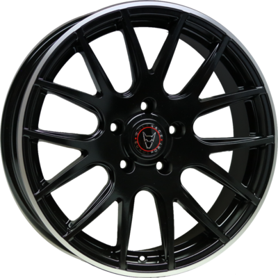 Large 8.5x18 Wolfrace Eurosport Munich Matt Black Polished