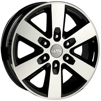 Clearance Ranger Gloss Black Polished Alloy Wheels Image