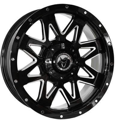 9X20 Wolfrace Explorer Ranger Black Polished Alloy Wheels Image