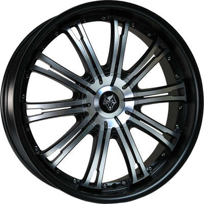 Wolf Design Vermont Black Polished Face Matt Black Lip Alloy Wheels Image