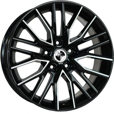 8x18 Wolfhart Vortex Gloss Black Polished