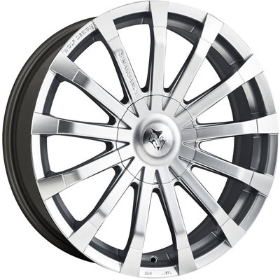 Wolf Design Renaissance Hyper Silver Polished Alloy Wheels Image