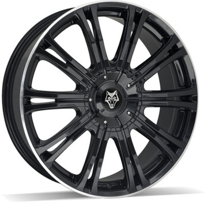 8.5x20 Wolf Design Vermont Sport Gloss Black Polished