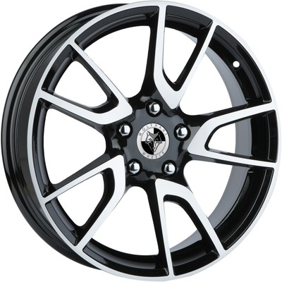 8x18 Wolfhart Nova Gloss Black Polished