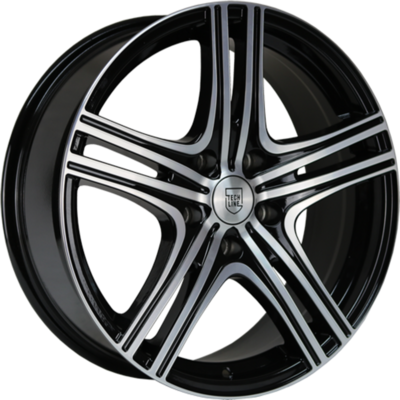 Large 8x18 Wolfhart W810 Gloss Black Polished
