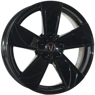 8x18 Wolfrace Eurosport AD5 Gloss Black Alloy Wheels Image