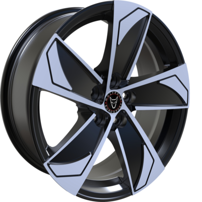 8x18 Wolfrace Eurosport AD5 Gloss Black Polished