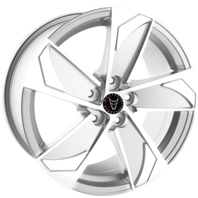 Wolfrace Eurosport AD5T Silver Polished Alloy Wheels Image