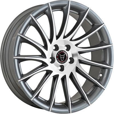 Wolfrace Eurosport Aero 2 Gunmetal Polished Alloy Wheels Image