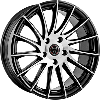 Wolfrace Eurosport Aero 2 Gloss Black Polished Alloy Wheels Image