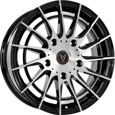 8x18 Wolfrace Eurosport Aero Super-T Gloss Black Polished