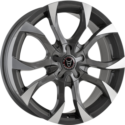 8x18 Wolfrace Eurosport Assassin Gunmetal Polished Alloy Wheels Image