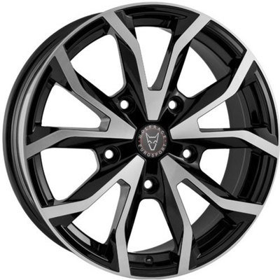 Wolfrace Eurosport Assassin TRS Gloss Black Polished Alloy Wheels Image