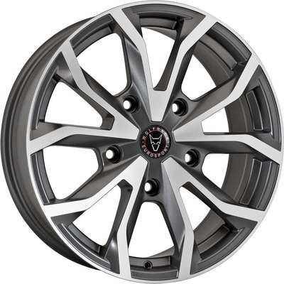 8x18 Wolfrace Eurosport Assassin TRS Gunmetal Polished