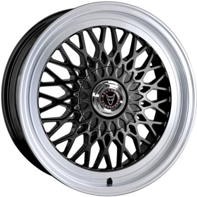 8.5x18 Clearance Classic Gloss Black Polished Lip Alloy Wheels Image