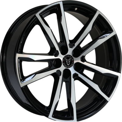 8.5x20 Wolfrace Eurosport Dortmund Gloss Black Polished