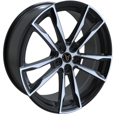 Wolfrace Eurosport Dortmund Gloss Black Polished Alloy Wheels Image