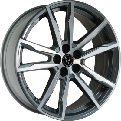 Wolfrace Eurosport Dortmund Gunmetal Polished Alloy Wheels Image