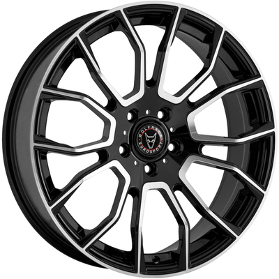 Wolfrace Eurosport Evoke Gloss Black Polished Alloy Wheels Image