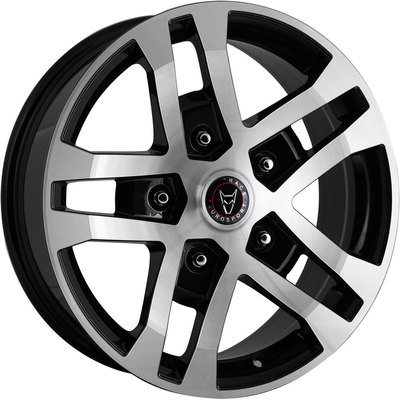 Clearance FTR Gloss Black Polished Face Alloy Wheels Image