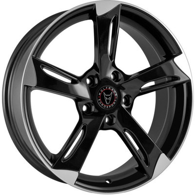 8.5x18 Wolfrace Eurosport Genesis Gloss Black Polished