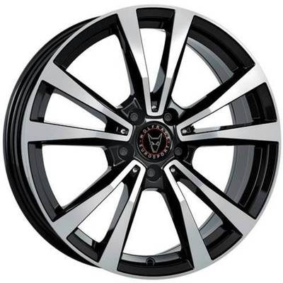 Wolfrace Eurosport M12X Diamond Black Polished Alloy Wheels Image