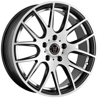 Wolfrace Eurosport Munich Satin Black Polished Face Undercut Alloy Wheels Image