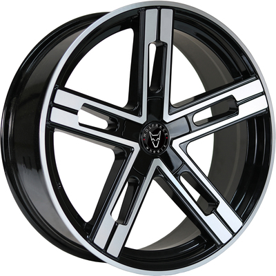 Wolfrace Eurosport Stuttgart Ultra Concave Gloss Black Polished Alloy Wheels Image