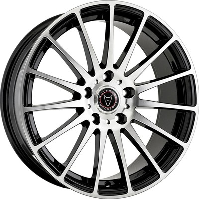 Wolfrace Eurosport Turismo 2 Gloss Black Polished Alloy Wheels Image