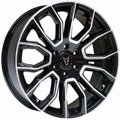 Wolfrace Eurosport Evoke X Gloss Black Polished Face Alloy Wheels Image