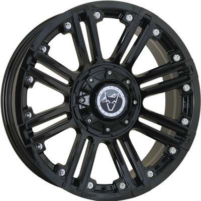 Wolfrace Explorer Amazon Gloss Black Chrome rivets Alloy Wheels Image
