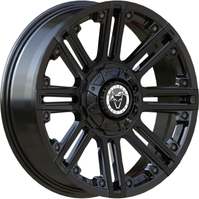 Wolfrace Explorer Amazon Matt Black Black rivets Alloy Wheels Image