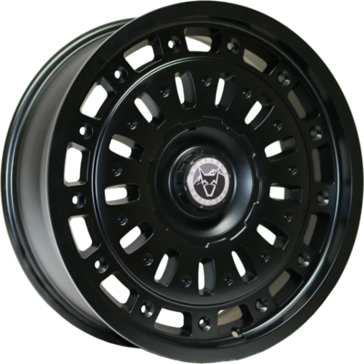 Wolfrace Explorer Explore Matt Black Black Rivets Alloy Wheels Image