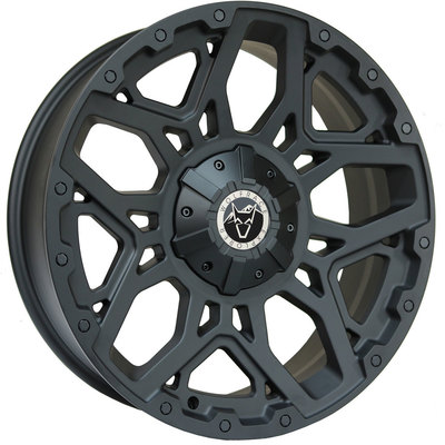 Wolfrace Explorer Sahara Matt Black Black Rivets Alloy Wheels Image