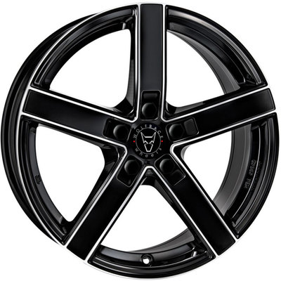7x16 Wolfrace Eurosport Emotion Satin Black Polished Alloy Wheels Image