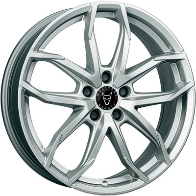 Wolfrace Eurosport Lucca Polar Silver Alloy Wheels Image
